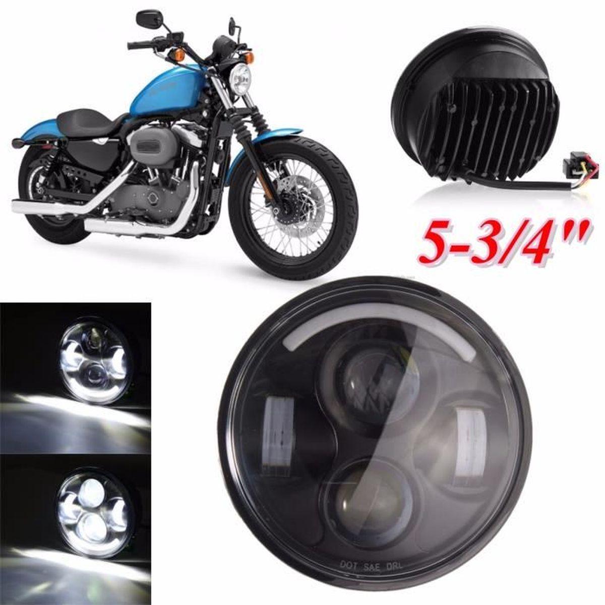 tempsa phare 5 75 pouce moto hi lo pour harley noir achat vente phares optiques tempsa. Black Bedroom Furniture Sets. Home Design Ideas