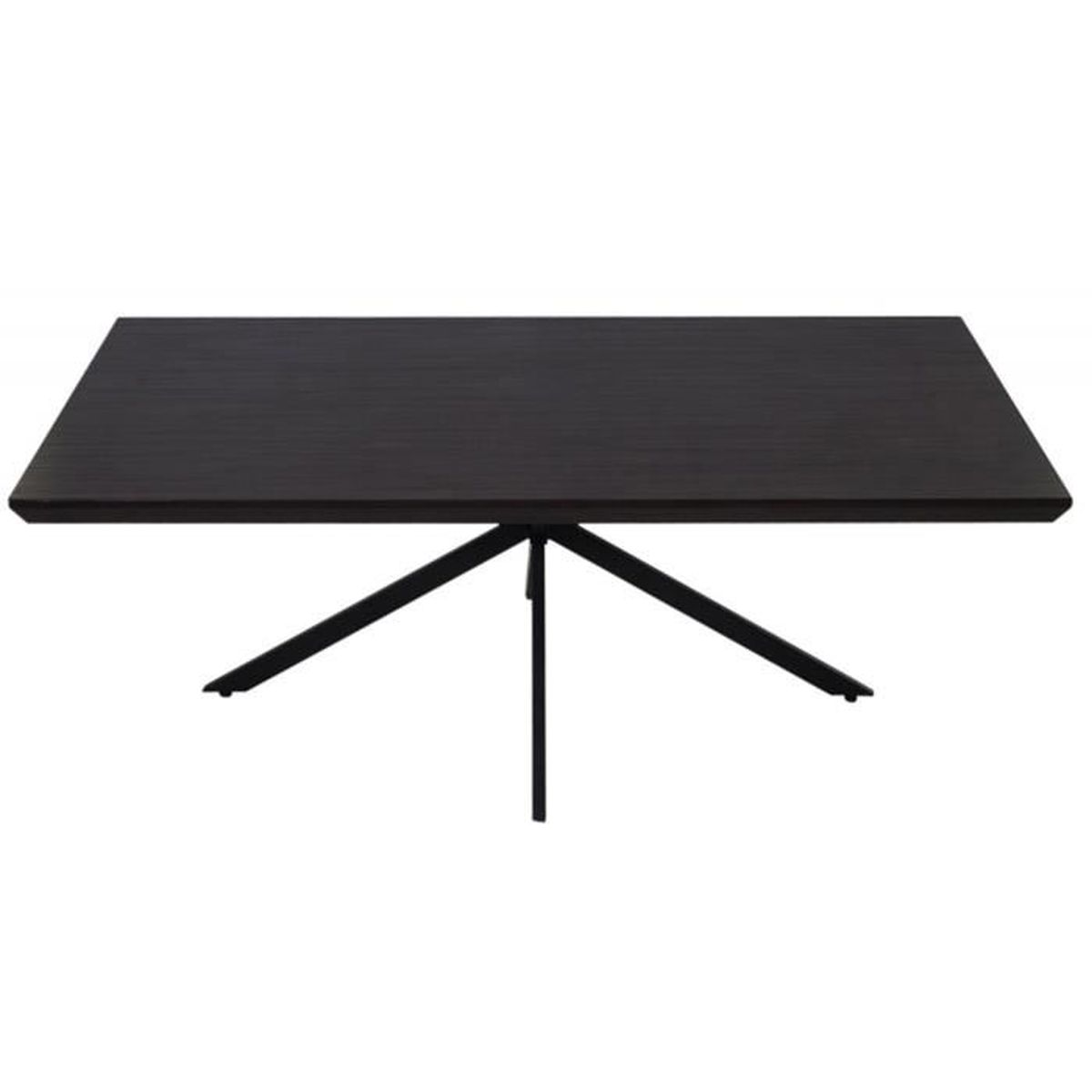 Table basse coloris weng avec pieds coloris noir 40 x for Table basse 60 cm