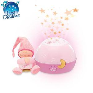 VEILLEUSE BÉBÉ CHICCO Ma Lampe Magic'Projection Rose First Dreams