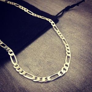 collier homme fin