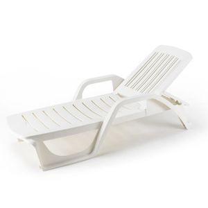 Chaise longue de jardin en plastique achat vente for Piscine en plastique pas cher