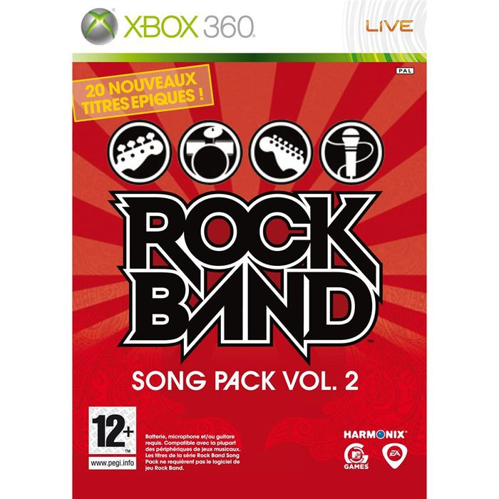 JEUX XBOX 360 Rock Band Song Pack 2 Jeu XBOX 360