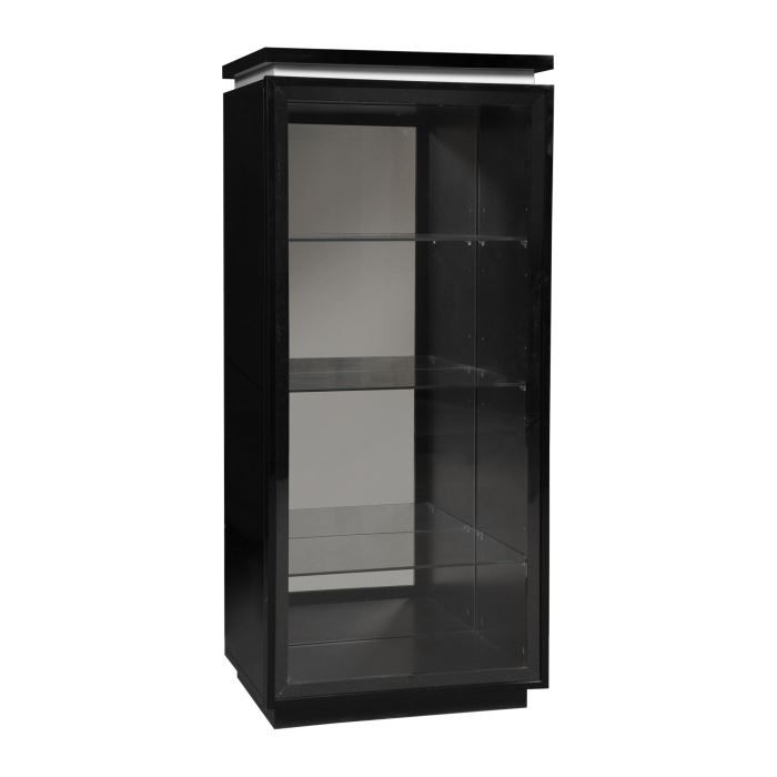 buzz vitrine avec clairage laqu noir achat vente vitrine argentier buzz vitrine avec