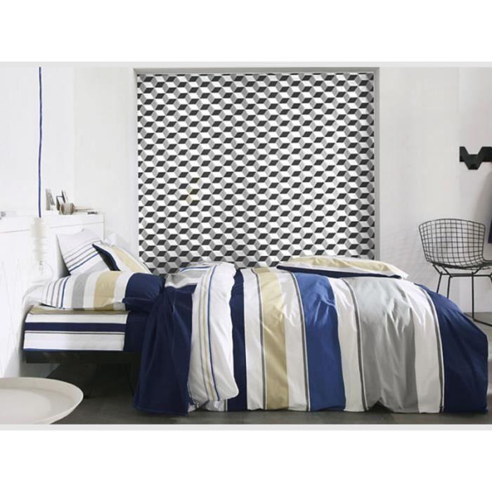 parure de lit palais royal navy blanc des vosges achat vente parure de couette cdiscount. Black Bedroom Furniture Sets. Home Design Ideas