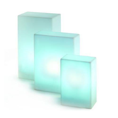 Lampe base ext rieur blanche boutica slide d achat for Lampe exterieur blanche