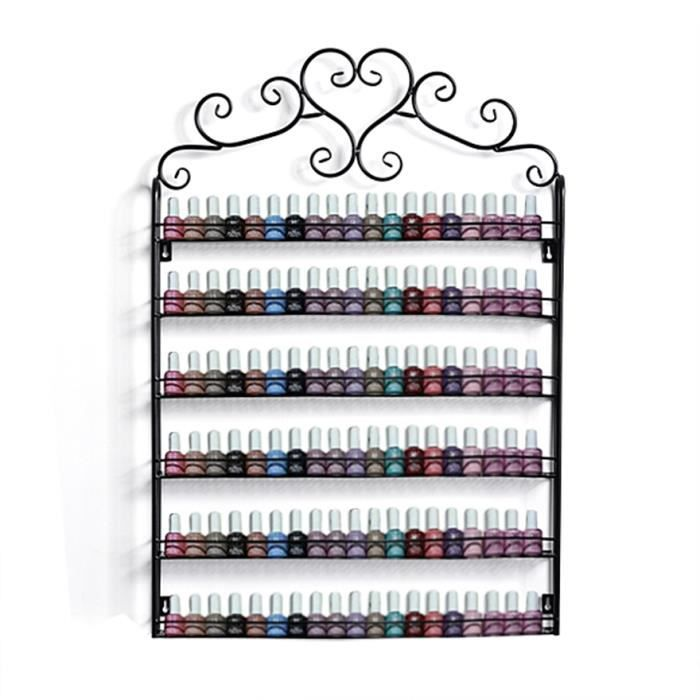 Support m tal vernis ongles tag re murale 120 for Meuble rangement vernis a ongles