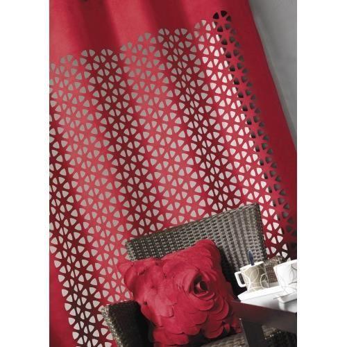 rideau ameublement en su dine rouge 140 x 260cm achat vente rideau cdiscount. Black Bedroom Furniture Sets. Home Design Ideas