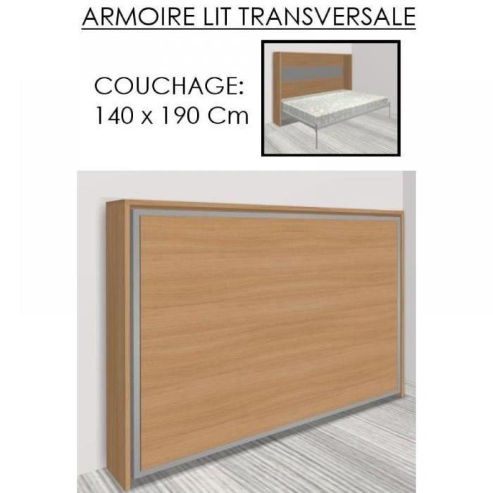 Armoire lit escamotable athena cerisier couch achat vente lit escamota - Lit escamotable cdiscount ...