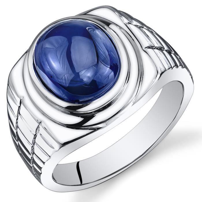 bague homme argent saphir bleu achat vente bague anneau bague argent saphir bleu. Black Bedroom Furniture Sets. Home Design Ideas