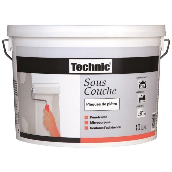 Sous Couche Platre : technic sous couche platre 10l achat vente peinture ~ Premium-room.com Idées de Décoration