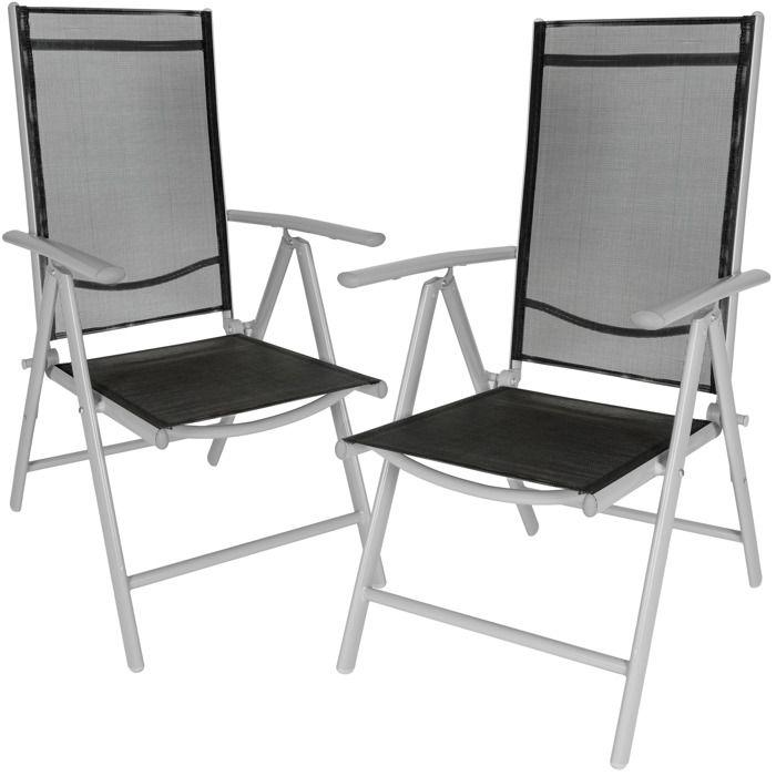 fauteuil pliant aluminium camping achat vente pas cher cdiscount. Black Bedroom Furniture Sets. Home Design Ideas