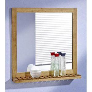Miroir bois salle de bain achat vente miroir bois - Miroir etagere salle de bain ...