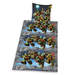 parure de couette tortue ninja achat vente parure de couette tortue ninja pas cher les. Black Bedroom Furniture Sets. Home Design Ideas