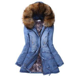 MANTEAU - CABAN SIMPLE FLAVOR Manteau d'hiver femme en jean à capu