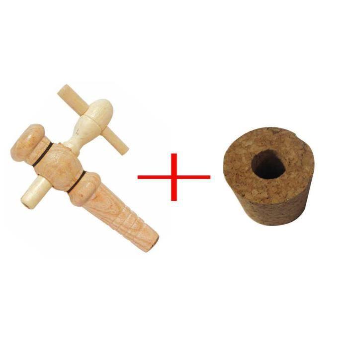 Bouchon perc 12 mm pour vinaigrier avec robinet bois buis - Bouchon pour vinaigrier avec robinet bois ...