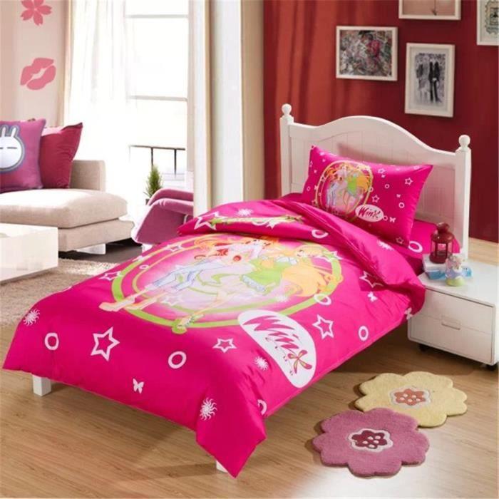 l m belle fille 100 coton enfant parure de couette parure de lit 1 housse de couette 140x 200. Black Bedroom Furniture Sets. Home Design Ideas