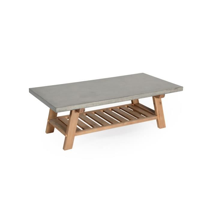 Golden table basse gris achat vente table basse for Table basse ceruse gris