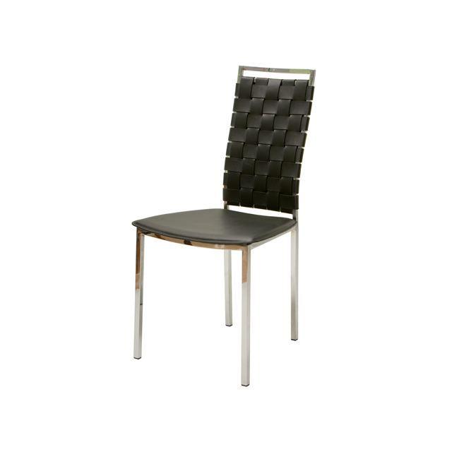 Lot de 2 chaises moderne noires tresse achat vente - Lot de chaises noires ...