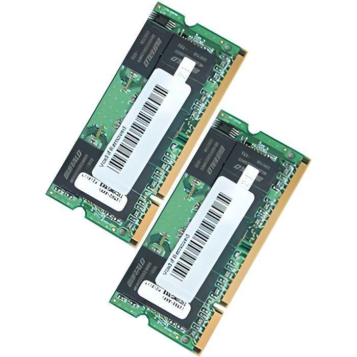 MÉMOIRE RAM Mémoire Kit 4 Go SODIMM DDR2 667 MacBook ,iMac …