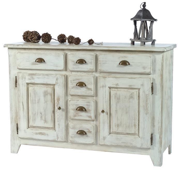 Meuble ceruse blanc achat vente meuble ceruse blanc pas cher les soldes - Bahut en pin pas cher ...