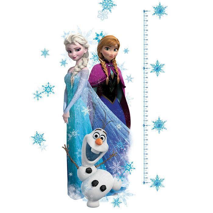 102x45cm sticker reine des neiges for Maison reine des neiges