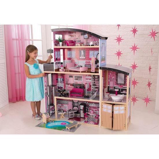 maison de poup e virginia rose achat vente maison poup e cdiscount. Black Bedroom Furniture Sets. Home Design Ideas