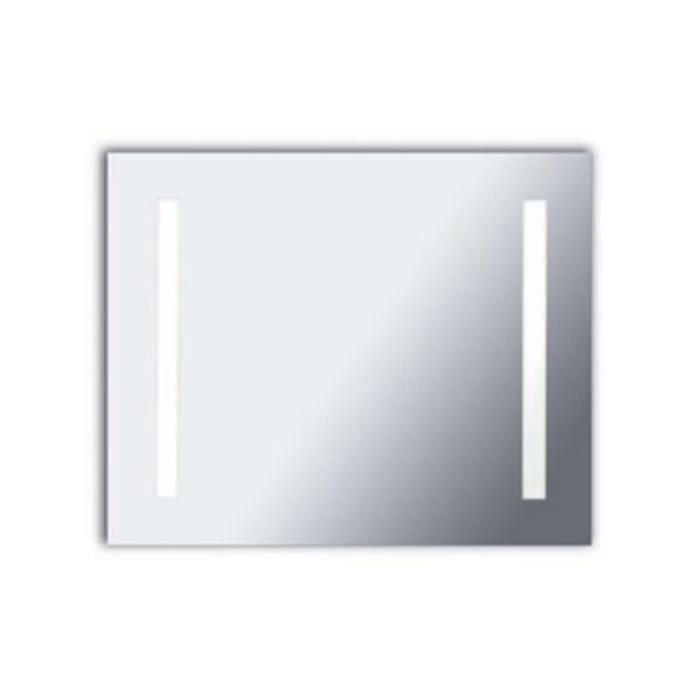 Leds c4 miroir rectangle lumineux salle de bain reflex led ip44 l80 cm achat vente miroir Miroir salle de bain lumineux