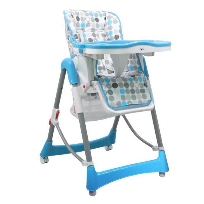 chaise haute enfant pliable r glable hauteur dossier et tablette ptit chou bleu achat. Black Bedroom Furniture Sets. Home Design Ideas
