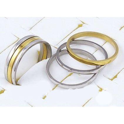 bague 3 anneaux alliance acier i argent or achat vente bague anneau bague acier mixte. Black Bedroom Furniture Sets. Home Design Ideas