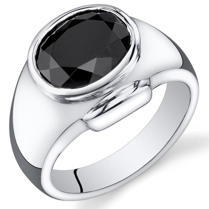 bague homme argent onyx ovale achat vente bague anneau bague argent onyx ovale. Black Bedroom Furniture Sets. Home Design Ideas