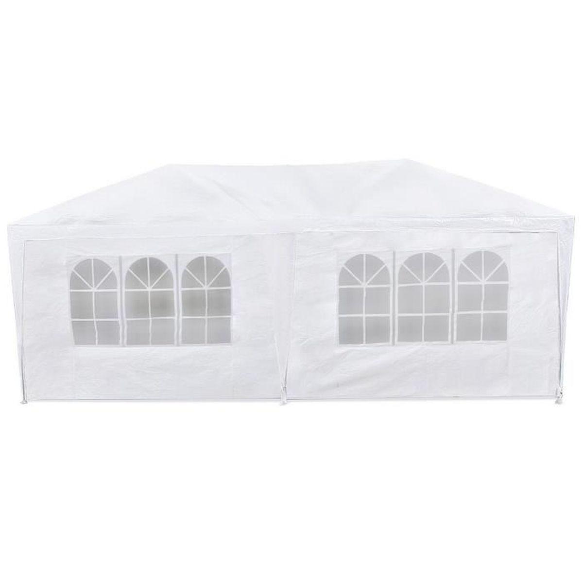 tente de r ception 3x6 blanche imperm able r siste au vent et aux rayons uv 99 achat. Black Bedroom Furniture Sets. Home Design Ideas