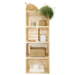 Caisse de rangement bois - Achat / Vente Caisse de rangement bois pas cher - Cdiscount