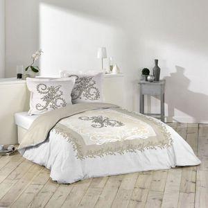 housse de couette beige achat vente housse de couette beige pas cher les soldes sur. Black Bedroom Furniture Sets. Home Design Ideas