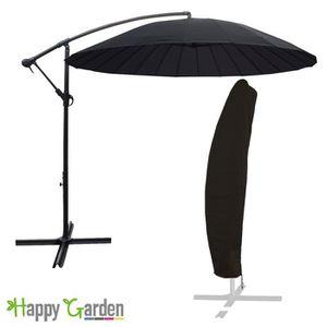 parasol noir achat vente parasol noir pas cher cdiscount. Black Bedroom Furniture Sets. Home Design Ideas