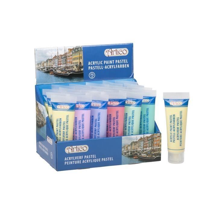 Set 6 tubes de peinture acrylique pastel achat vente peinture acrylique s - Achat peinture acrylique ...