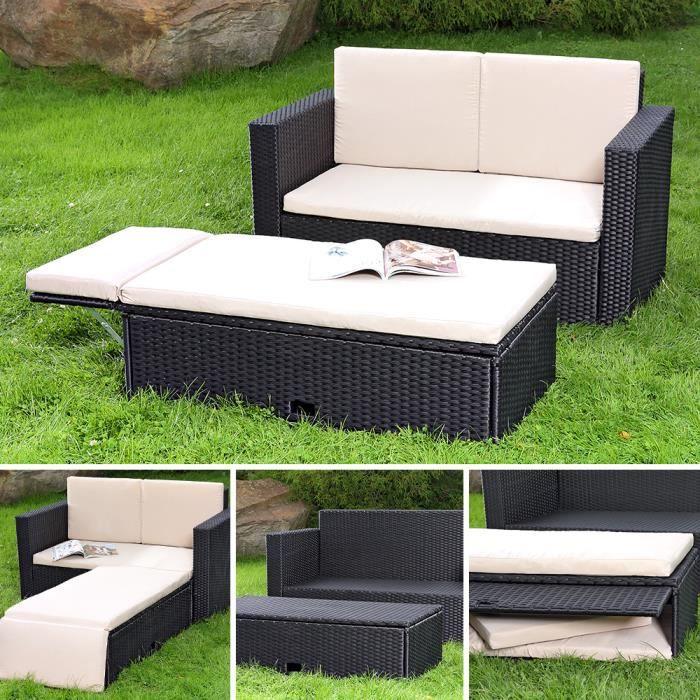Chaise fauteuil canape sofa de jardin poly rotin achat for Fauteuil de jardin en osier