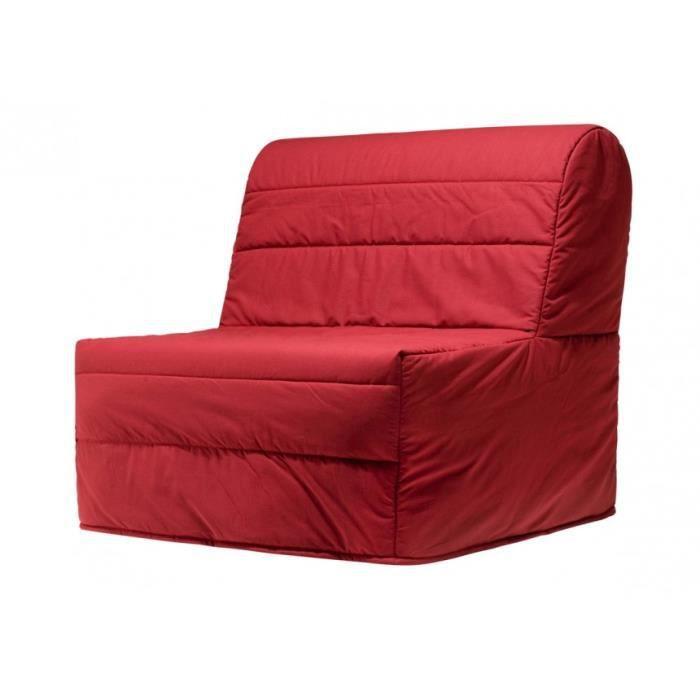 chauffeuse bz elly choix du tissu a204 rouge achat vente chauffeuse tissu polyur thane. Black Bedroom Furniture Sets. Home Design Ideas