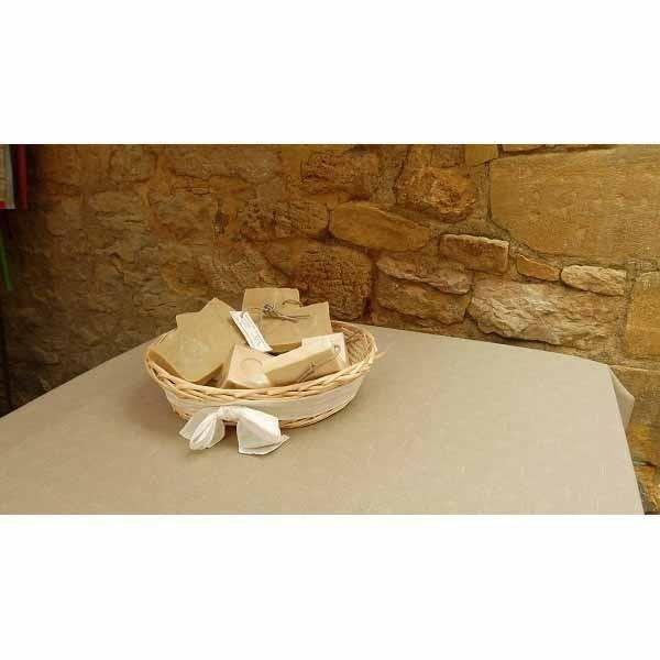 Nappe carr e uni lin coton enduit plastifi 1m5 achat - Nappe coton enduit table ...