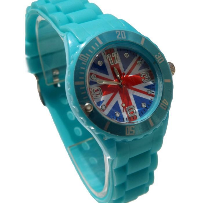 Montre ice watch blanche et turquoise berlesong - Montre ice watch bleu turquoise ...