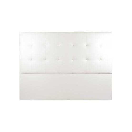 t te de lit design sahara blanc 180 x 120 achat vente t te de lit cdiscount. Black Bedroom Furniture Sets. Home Design Ideas