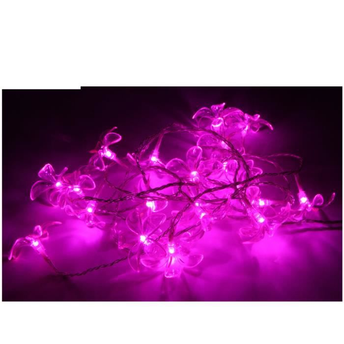 Guirlande ext rieure 20 led fuchsia 3m 8 fonctions for Guirlande exterieure led