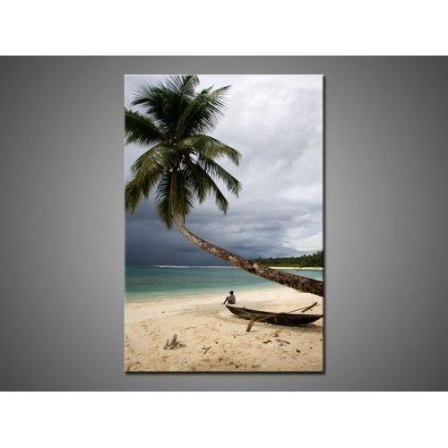 Tableau toile moderne palmier sur la plage achat vente tableau toile - Tableau moderne discount ...