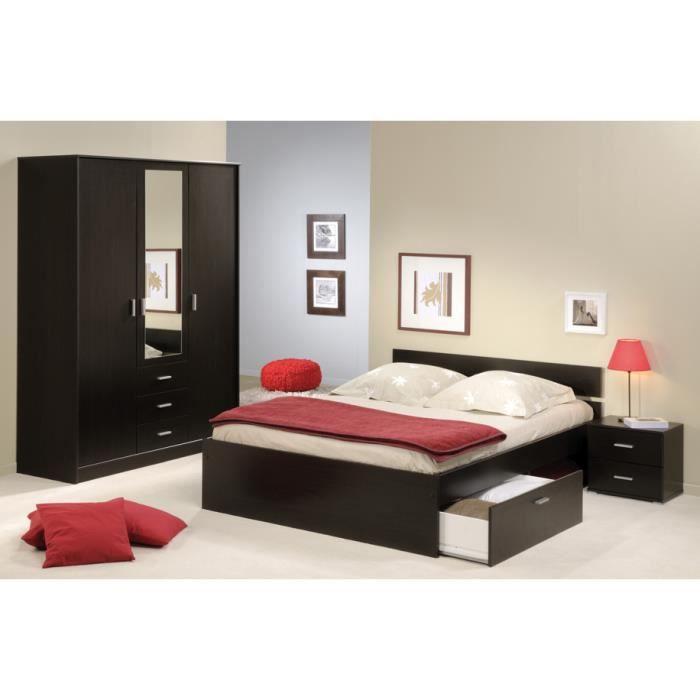 lit avec tiroirs 160 x 200 cm people achat vente structure de lit lit avec tiroirs 160 x 200. Black Bedroom Furniture Sets. Home Design Ideas