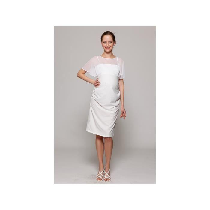 robe de mariage robes de mari e femme enceinte blanc achat vente robe de mari e cdiscount. Black Bedroom Furniture Sets. Home Design Ideas