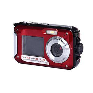 CAMÉSCOPE NUMÉRIQUE Double écran Caméra étanche Caméra 24MP 16x Zoom n