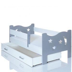 lit enfant 70 x 140 cm avec tiroir achat vente lit. Black Bedroom Furniture Sets. Home Design Ideas