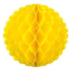 Boule papier jaune deco achat vente boule papier jaune for Boule de papier deco
