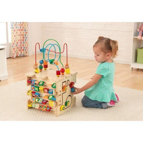 cube d 39 activit en bois boulier perle alphabet achat vente cube veil cdiscount. Black Bedroom Furniture Sets. Home Design Ideas