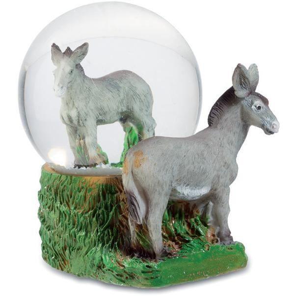 Boule de neige figurine statuette ne achat vente for Ane decoration jardin