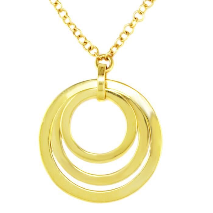 collier femme or jaune pendentif anneaux achat vente sautoir et collier collier femme or. Black Bedroom Furniture Sets. Home Design Ideas